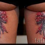 тату бантики на ногах сзади фото - фото пример готовой татуировки 02052016 23
