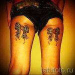 тату бантики на ногах сзади фото - фото пример готовой татуировки 02052016 27