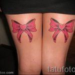 тату бантики на ногах сзади фото - фото пример готовой татуировки 02052016 32