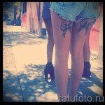 тату бантики на ногах сзади фото - фото пример готовой татуировки 02052016 33