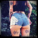 тату бантики на ногах сзади фото - фото пример готовой татуировки 02052016 34