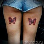 тату бантики на ногах сзади фото - фото пример готовой татуировки 02052016 7
