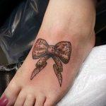 тату бантики на ногах - фото пример готовой татуировки 02052016 3