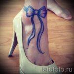 тату бантики на ногах - фото пример готовой татуировки 02052016 4