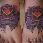 тату бантики на ногах - фото пример готовой татуировки 02052016 5