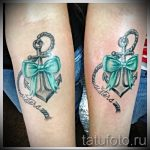 тату бантики на ногах - фото пример готовой татуировки 02052016 7