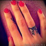 тату бантик маленький - фото пример готовой татуировки 02052016 5