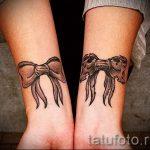 тату бантик на запястье - фото пример готовой татуировки 02052016 4