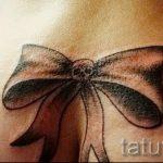 тату бантик на попе - фото пример готовой татуировки 02052016 1