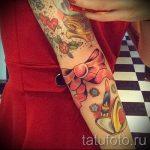 тату бантик на руке - фото пример готовой татуировки 02052016 4