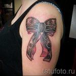 тату бантик на руке - фото пример готовой татуировки 02052016 6