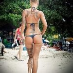 тату бантик на спине - фото пример готовой татуировки 02052016 1