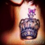 тату бантик на шее - фото пример готовой татуировки 02052016 8