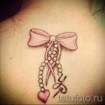 тату в виде бантика - фото пример готовой татуировки 02052016 2