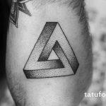 тату глаз в треугольнике дотворк - фото готовой татуировки от 13052016 4