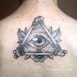 тату глаз в треугольнике из костей - фото готовой татуировки от 13052016 3