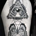 тату глаз в треугольнике на предплечье - фото готовой татуировки от 13052016 11