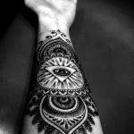 тату глаз в треугольнике на предплечье - фото готовой татуировки от 13052016 4