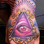тату глаз в треугольнике на руке - фото готовой татуировки от 13052016 10