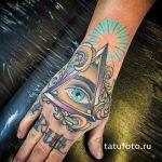 тату глаз в треугольнике на руке - фото готовой татуировки от 13052016 5