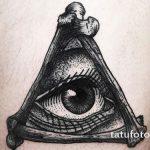 тату глаз в треугольнике на руке - фото готовой татуировки от 13052016 8