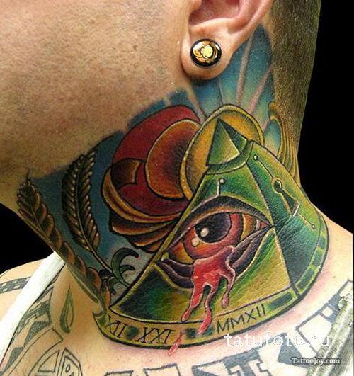 арганы тату пирамиды на шее фото гайде