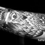тату глаз в треугольнике с крыльями - фото готовой татуировки от 13052016 6