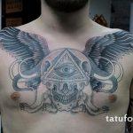 тату глаз в треугольнике с крыльями - фото готовой татуировки от 13052016 8