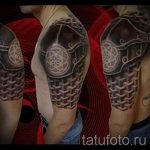тату доспехи латы кольчуга - пример готовой татуировки от 16052016 1