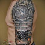 тату доспехи латы кольчуга - пример готовой татуировки от 16052016 2