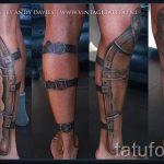 тату доспехи на ногу - пример готовой татуировки от 16052016 3