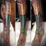 тату доспехи на ногу - пример готовой татуировки от 16052016 5