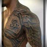 тату доспехи на плече фото - пример готовой татуировки от 16052016 1