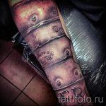 тату доспехи на предплечье - пример готовой татуировки от 16052016 4