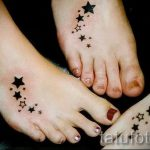 тату звезды на ступне - фото пример готовой татуировки от 23.05.2016 2