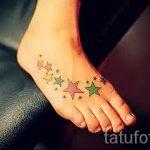 тату звезды на ступне - фото пример готовой татуировки от 23.05.2016 3