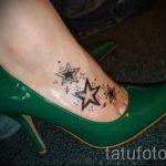 тату звезды на ступне - фото пример готовой татуировки от 23.05.2016 4