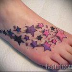 тату звезды на ступне - фото пример готовой татуировки от 23.05.2016 8