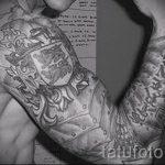 тату латы доспехи - пример готовой татуировки от 16052016 7