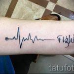 тату линия пульса - пример готовой татуировки 2