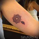 тату маленькая мандала - фото пример готовой татуировки от 01052016 5