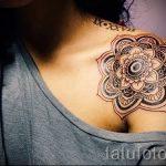 тату мандала для девушек - фото пример готовой татуировки от 01052016 1