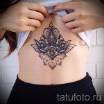 тату мандала для девушек - фото пример готовой татуировки от 01052016 2