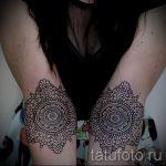 тату мандала для девушек - фото пример готовой татуировки от 01052016 8