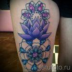 тату мандала лотос - фото пример готовой татуировки от 01052016 12