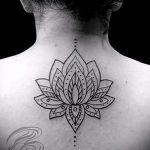 тату мандала лотос - фото пример готовой татуировки от 01052016 2