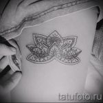 тату мандала лотос - фото пример готовой татуировки от 01052016 5