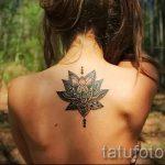 тату мандала лотос - фото пример готовой татуировки от 01052016 9