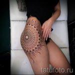 тату мандала на бедре - фото пример готовой татуировки от 01052016 1