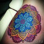 тату мандала на бедре - фото пример готовой татуировки от 01052016 10